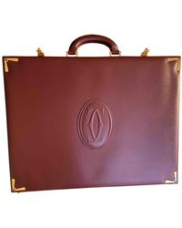 Cartier Burgundy Leather Bag - Red
