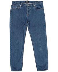 A.P.C. - Jeans Baumwolle Blau - Lyst