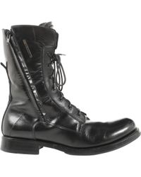 Versace - Black Leather Boots - Lyst