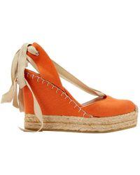 Ralph Lauren Collection - Cloth Heels - Lyst