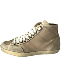 Burberry Cloth Trainers - Natural