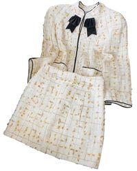 Chanel Skirt Suit - White