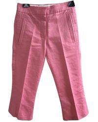 Louis Vuitton Pink Cotton Trousers