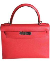 Hermès Kelly 28 Leder Handtaschen - Rot