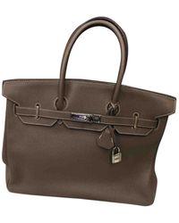Hermès Birkin 35 Gray Leather Handbag