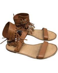 8d85781ec92e Lyst - Valentino Scarab Sandals in Brown