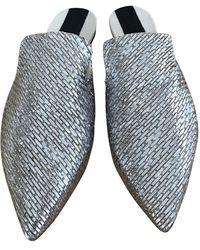 Sanayi 313 Silver Leather Sandals - Metallic