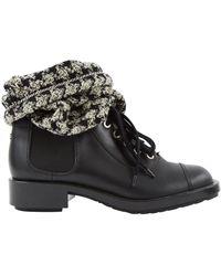 Chanel Stivali in pelle nero