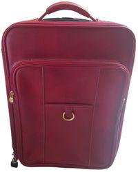 Lancel Leather Travel Bag - Red