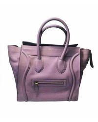 Celine Nano Luggage Leder Handtaschen - Lila