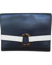 Dior Navy Leather Clutch Bag - Blue
