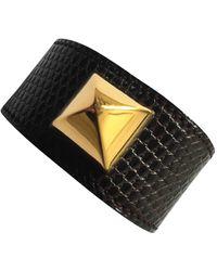 Hermès Echse bracelet - Braun