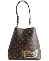 Louis Vuitton Bolsa de mano en lona marrón NéoNoé