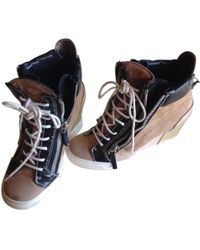 Giuseppe Zanotti - Pre-owned Camel Leather Trainers - Lyst
