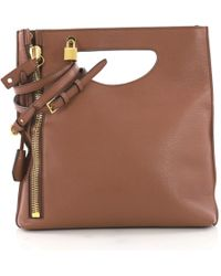 Tom Ford - Pre-owned Alix Brown Leather Handbags - Lyst