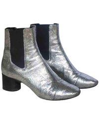 Isabel Marant Danae Leather Ankle Boots - Metallic