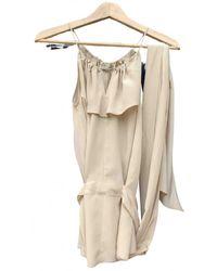 Bottega Veneta Silk Camisole - Natural