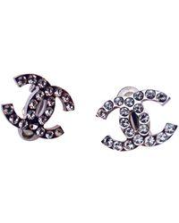 Chanel Cc Ohrringe - Mettallic