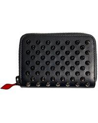 Christian Louboutin Mini Studded Coin Holder Wallet - Black