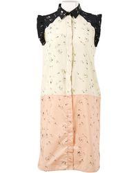 Marni - Beige Silk Dress - Lyst