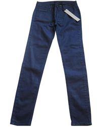 Victoria Beckham Navy Cotton - Elasthane Jeans - Blue