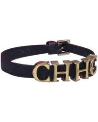 Carolina Herrera Leather Bracelet - Brown