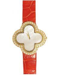 Van Cleef & Arpels Alhambra White Yellow Gold Watches
