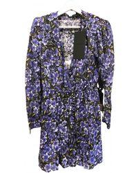 The Kooples Spring Summer 2019 Silk Mini Dress - Multicolour