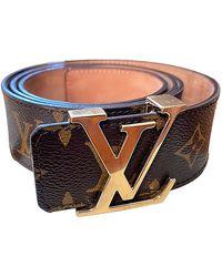 Louis Vuitton Ceinture Initiales en toile - Marron