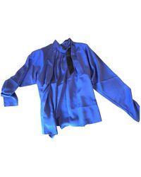 Ferragamo Silk Blouse - Blue