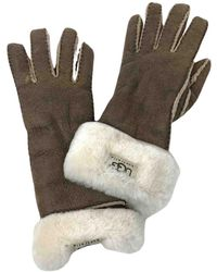 UGG Faux Fur Gloves - Brown