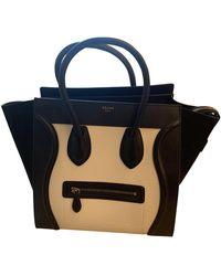 Celine Luggage Leather Handbag - White