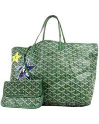 Goyard Saint-louis Green Cloth Handbag