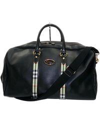 Burberry Leather Travel Bag - Black