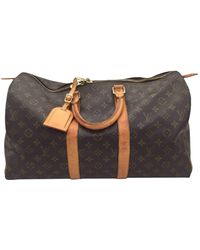 Louis Vuitton Keepall Cloth Travel Bag - Multicolour