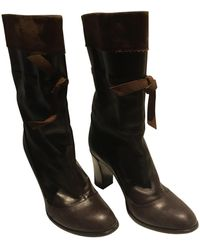Marc Jacobs Leather Boots - Brown