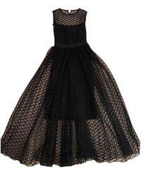 Dior Robe en Coton Noir