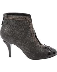 Chanel - Cloth Ankle Boots - Lyst
