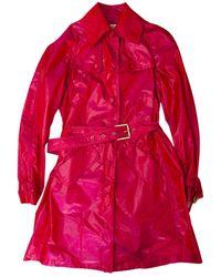 Roberto Cavalli Silk Trench Coat - Pink