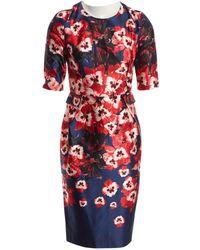 Prabal Gurung - Red Silk Dress - Lyst