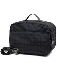 Chanel Black Cloth Travel Bag