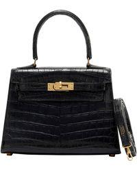 Hermès Kelly Mini Krokodil Handtaschen - Schwarz