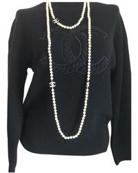 Chanel Cc Long Necklace - Black