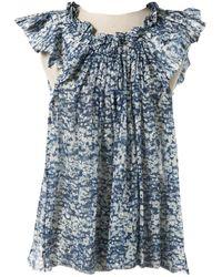 Étoile Isabel Marant Camisa en seda azul