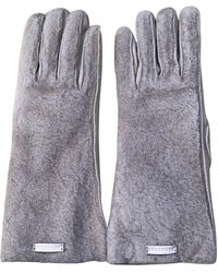 Burberry Pink Leather Gloves - Multicolour