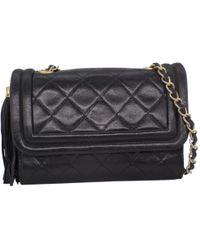 Chanel - Vintage Camera Black Leather Handbag - Lyst