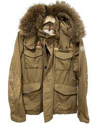 Moncler Fur Hood Parka - Braun