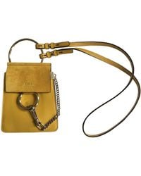 Chloé - Faye Yellow Leather Handbag - Lyst