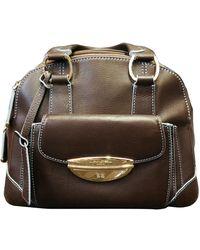 Lancel Adjani Leather Handbag - Brown