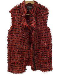 Lanvin Wool Cardi Coat - Red